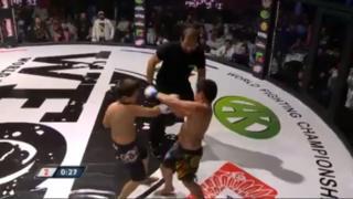 Boys' martial arts event in Grozny - video still