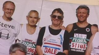 Dale Lyons with other marathon runners