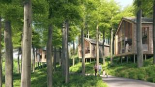 Artist impression of proposed lodges