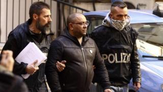 Police arrest Carmine Spada in Ostia, 25 Jan 18