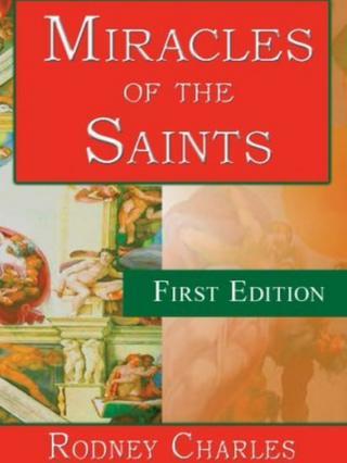 تصویر روی جلد یکی از کتابهای معجزات و کرامات قدیسین مسیحی