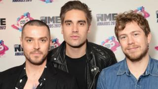 Busted (l-r) Matt Willis, Charlie Simpson and James Bourne