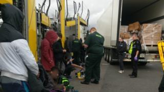 Welfare checks at Toddington services