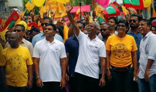 Ibrahim Mohamed Solih, Maldivian presidential candidate backed by the opposition coalition