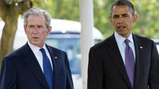Geroge W. Bush y Barack Obama