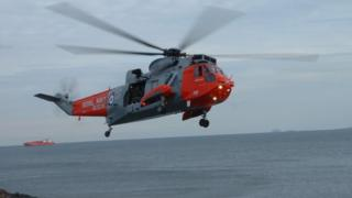 Rescue helicopter in Forth