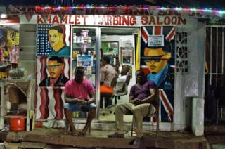 Barber shop in Freetown