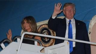 Rais Trump, tayari amewasili Sicily