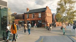 Artist impression of the Henderson's Relish factory pub could look