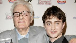 Sir Peter Shaffer with Daniel Radcliffe in 2008