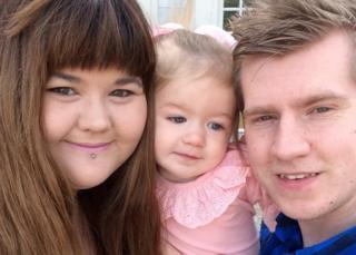 Zoe, Evie and Chris Rimington