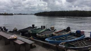 Marine base waterway for Port Harcourt, south south Nigeria