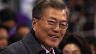 S Korean President Moon Jae-in