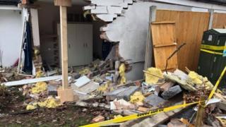 Crashed house