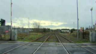The alert was near the railway line at Lake Street in Lurgan