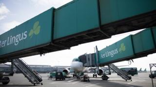 Aer Lingus plane at Dublin Airport