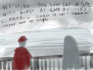 Concept art for the sunset portion of the video