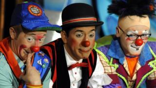 """клоуны """"Цирка братьев Ринглинг, Барнума и Бейли"""""""