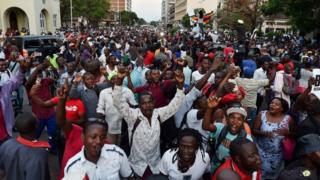 Celebration for streets of Harare