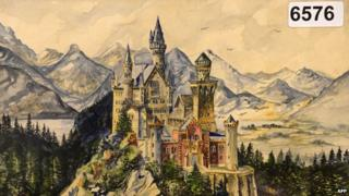 Hitler's painting of Neuschwanstein Castle