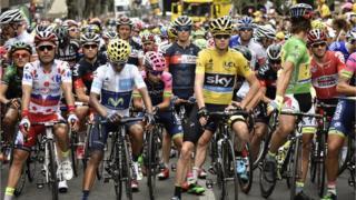 Tour de France start line