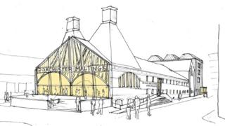Dorchester Maltings exterior drawing