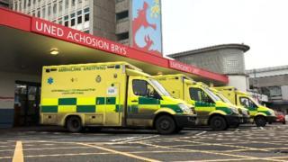 emergency unit at University Hospital of Wales, Cardiff