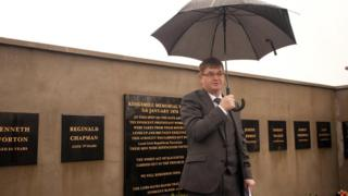 Willie Frazer at the Kingsmills memorial