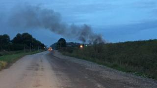 Fire at Waterbeach recycling centre