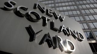 Sign outside New Scotland Yard
