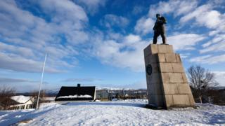 Monument to Russian soldiers in Kirkenes