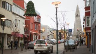 Reykjavik street scene 2017