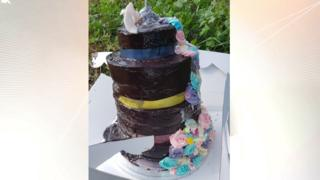 Fly-tipped cake