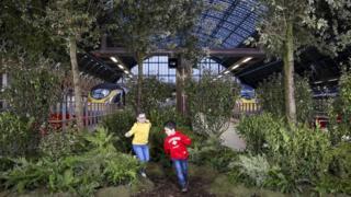 欧洲之星车站变成乡野绿地