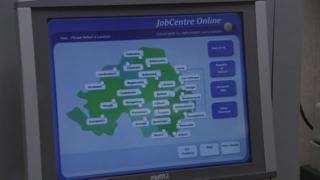 A touch screen jobs portal
