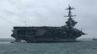 USS Harry S Truman in The Solent