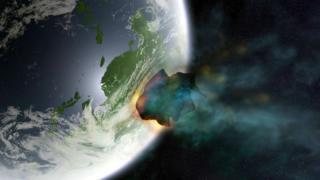 Астероид на подлете к Земле