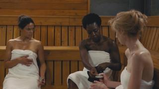 Michelle Rodriguez, Viola Davis and Elizabeth Debicki in Widows