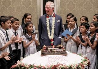 in_pictures Prince Charles celebrates his birthday with schoolchildren from the Kaivalya Education Foundation during his visit to Mumbai, India.