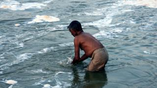 The Ganges is worshipped by millions, but they are also heavily polluted