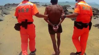 大陸男子被海巡署人員逮捕