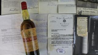 Bottle of Welsh whisky