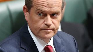 Australia's federal opposition leader Bill Shorten