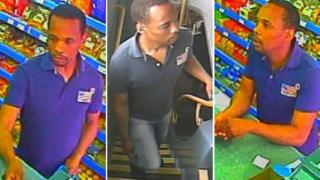 CCTV images of Ricardo Hunter