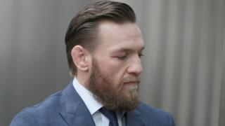 Conor McGregor en un tribunal de Dublin