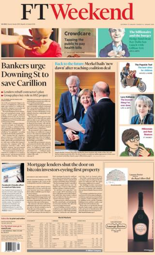 Financial Times weekend front page