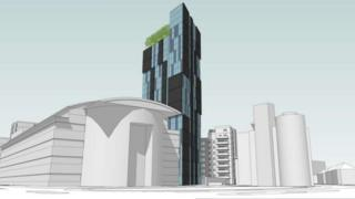 Proposed development on the ITEC site in Butetown