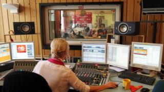 Polish Radio Channel 3 studio - file pic