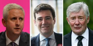 Ivan Lewis, Andy Burnham and Tony Lloyd