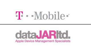 T-Mobile's logo (above) and dataJAR's (below)